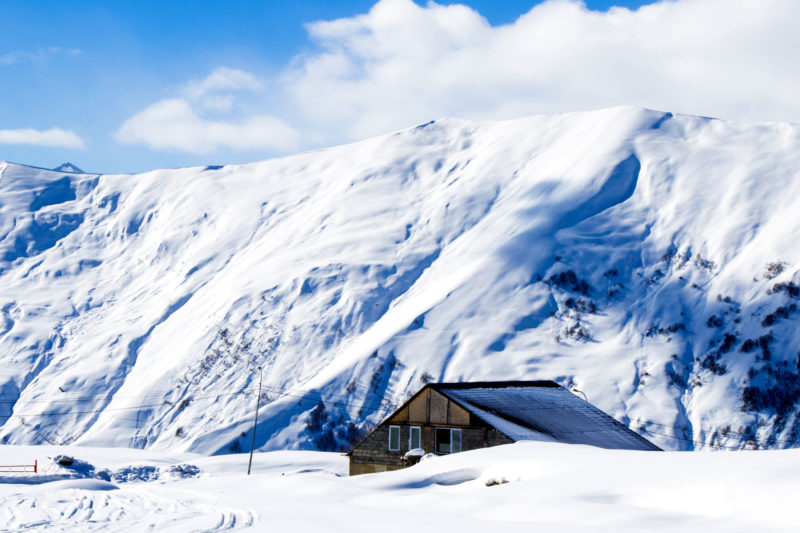 Summers Insurance view of snowy mountain personal travel